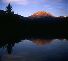 Mount Lassen - Manzanita Lake by Harry Snowden