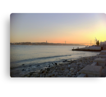 Sunset in Lisbon part II Canvas Print