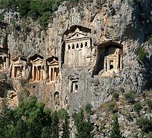 Dalyan Tombs Close Up by taiche