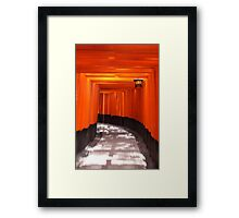 Red Passage Framed Print