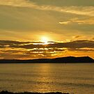 November Sunset Polzeath Cornwall  by Russell Couch
