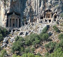 Carved Rock Tombs at Dalyan by taiche