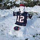 A NEW ENGLAND Patriot Snowman  by MsLiz
