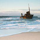 The Wreck of the Sygna - Stockton Beach, NSW by Kim Roper