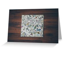 Classic album photographed Led Zeppelin III Greeting Card