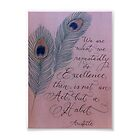 Aristotle quote 5x7 calligraphy art by Melissa Goza