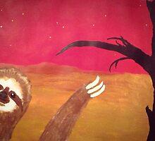 Photobombing Sloth by Simon L. Read