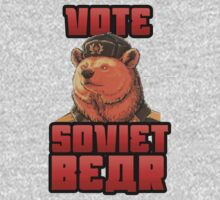 Vote for soviet bear by bakery