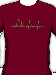 Morning Coffee Heartbeat EKG T-Shirt