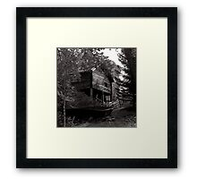 Swedish Boatshed Framed Print