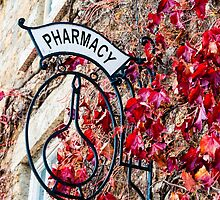 Old vintage Pharmacy sign by Stanciuc