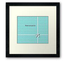 Tiffany & Co. Logo - Quatrefoil Pattern &  Ribbon Framed Print