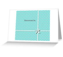 Tiffany & Co. Logo - Quatrefoil Pattern &  Ribbon Greeting Card