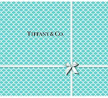 Tiffany & Co. Logo - Quatrefoil Pattern &  Ribbon Photographic Print
