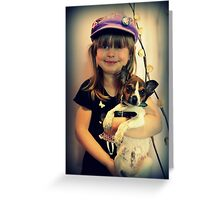 Portrait ~ Girl And Dog ~ Greeting Card