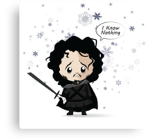 Jon in the Snow Canvas Print