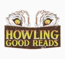 Howling good reads distressed version  The Others Written in red or Murder of Crows series fan art by jazzydevil