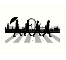 221B Abbey Road (Version Two) Art Print