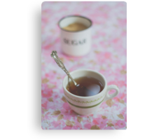 Tea Time in Pink Canvas Print