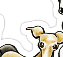 Italian Greyhound Trio Sticker