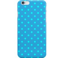 Polkadots Blue and Turquoise iPhone Case/Skin