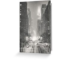 A Winter's Tale - New York City Greeting Card