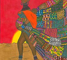 Masai - Mother & Child by Laura Hutton