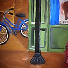 Bicycle in the Alley by Melissa Goza