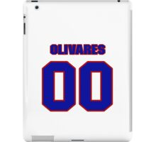 National baseball player Omar Olivares jersey a00 iPad Case/Skin