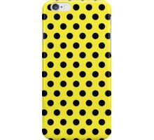 Polkadots Yellow and Black iPhone Case/Skin
