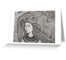 Tea Time Under the Tree Greeting Card
