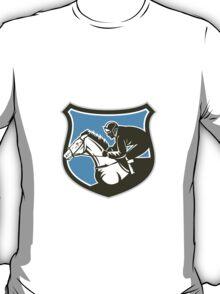 Jockey Horse Racing Side Shield Retro T-Shirt