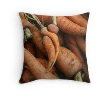 Carrot Cuddle Throw Pillow