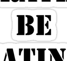 Right Now, I'd Rather Be Eating Sushi - Black Text Sticker