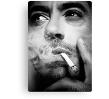 Robert Downey Jr. Digital Portrait Canvas Print