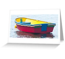 red dinghy 3 Greeting Card