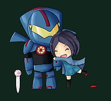 Pacific Rim- Mako Mori and Gipsy Danger Chibi by KlockworkKat by commonroompc