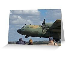RAAF Hercules Landing Greeting Card
