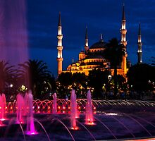 The Blue Mosque At Night by Mohammed Abdul Quddus