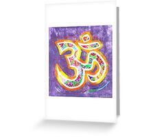 Distressed OM Greeting Card