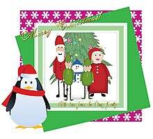 With Love from the Claus Family Photographic Print