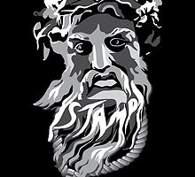 STAMPtheBrand Black and White Zeus by STAMPtheBrand