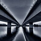 Commonwealth Avenue Bridge - Blue by Christopher Meder