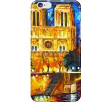 NOTRE DAME DE PARIS - Leonid Afremov CITYSCAPE iPhone Case/Skin