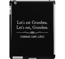 Let's Eat Grandma Commas Save Lives iPad Case/Skin