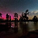 Southern Aurora and Galaxy over Lake Fyans  by pablosvista2