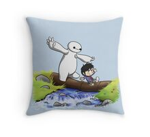 Hiro and Baymax Throw Pillow
