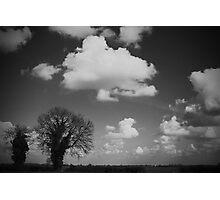 Monochrome Fen Photographic Print