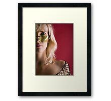 half girl Framed Print