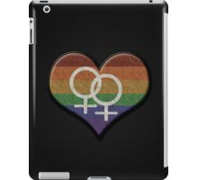 Lesbian Pride Rainbow Heart with Female Gender Symbol iPad Case/Skin